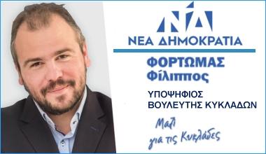 Φίλιππος Φόρτωμας - Υποψήφιος Βουλευτής Κυκλάδων Ν.Δ